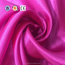 100% polyester solid color cheap stretch satin fabric for bedding sets