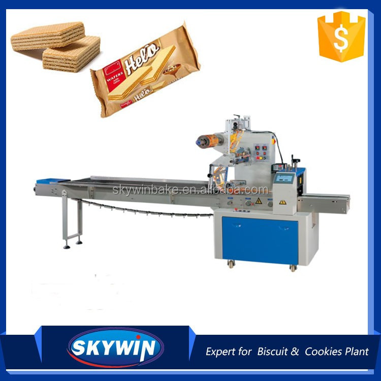 Sandwich Wafer Biscuit Cookie Packing Machine Flow Pack