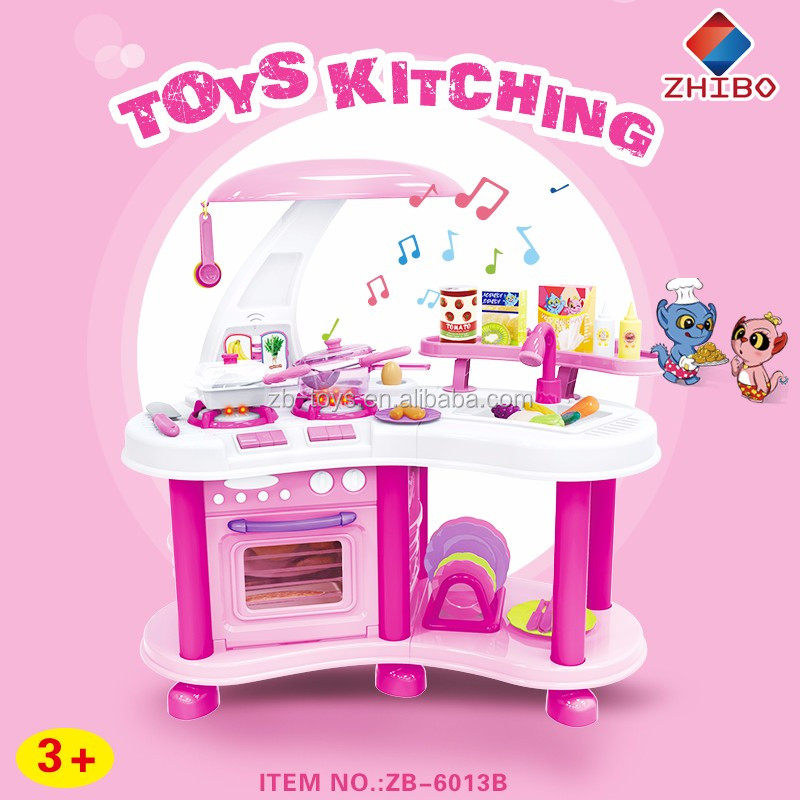 Hot Sale Beautiful Lighted Musical Kids Kitchen Play Set   Buy Kitchen Play  Set,Kids Kitchen Sets,Kids Kitchen Play Set Product On Alibaba.com