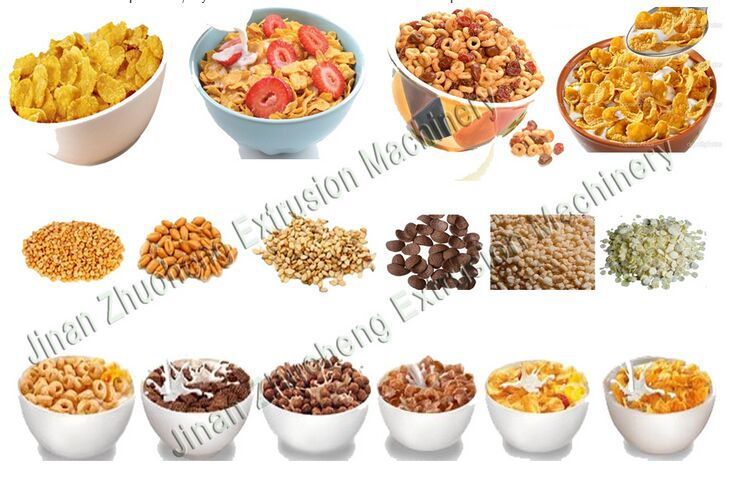 Fully Automatic Roasted Breakfast Cereals Making Machine