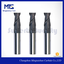 metal miiling cutter 2 flute end mill with AlTiN coating