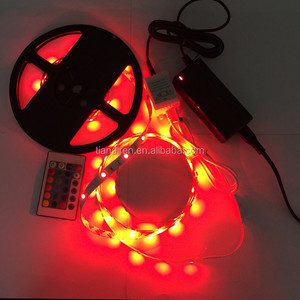 5050 SMD RGB 16 colors changeable DC12V 60LED/M waterproofed LED flexible strip lights 5M/reel