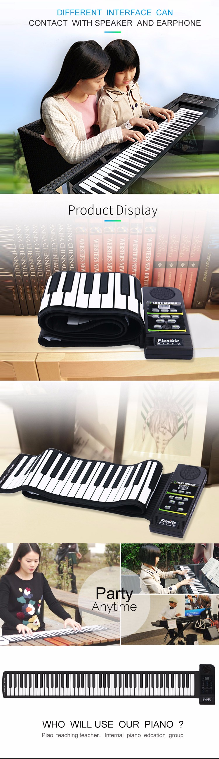 high quality hand-roll up piano manufacture