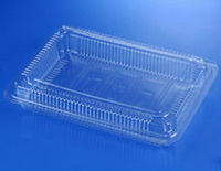 Plastic clear container food storage box plastic tray