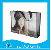 custom glossy lamination non woven shopping tote bag for clothing