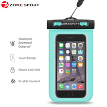 Hot sale new products The bset durable Customized mobile phone PVC universal waterproof pouch for iphone 6