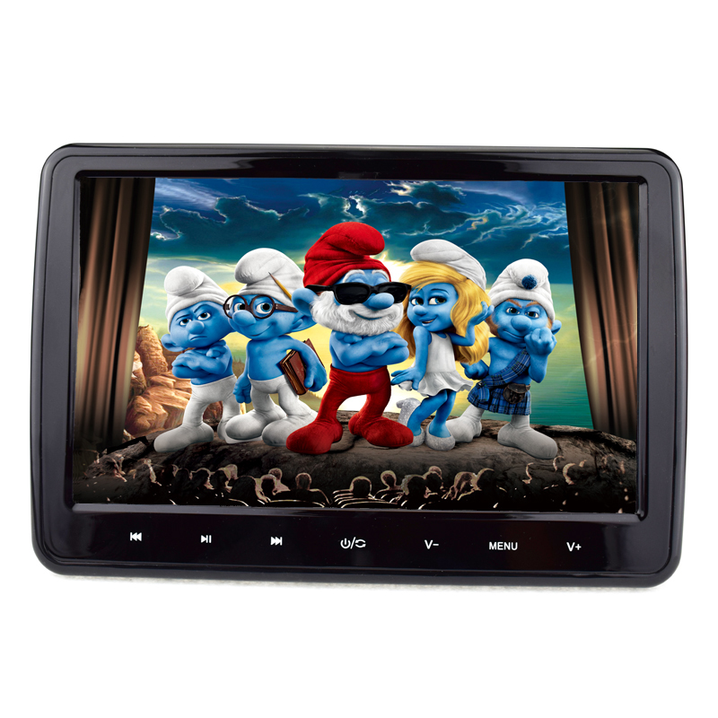 10.1 inch touch screen headrest car dvd player support 32bit games
