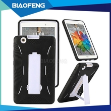 2016 hot selling tpu pc combo bumper heavy duty holster tablet case with kickstand for lg pad v521