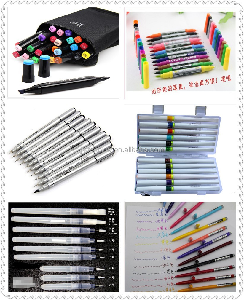 100 Colors Watercolor Brush Marker Pens W/ A Water Coloring Brush, Soft Flexible Tip for Adult Coloring Books