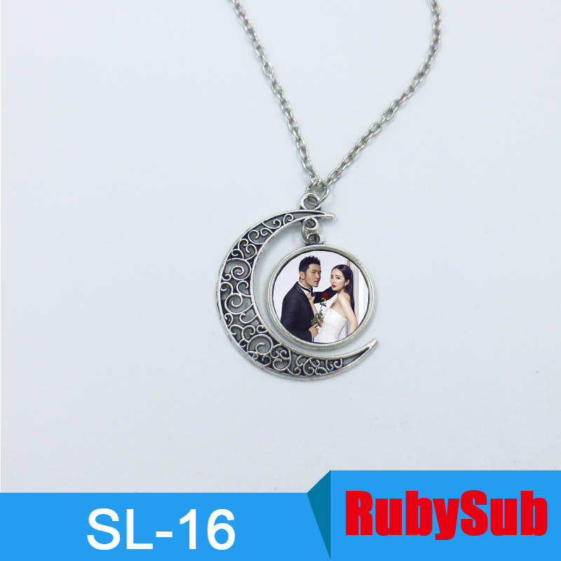 SL-16 Sublimation Metal Necklace Sublimation Jewelry Pendant Blanks for Custom Promotion Gifts