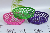Bamboo kitchen fruit vegetable basket, storage basket, foldable basket