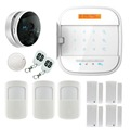Touch keypad IOS Android APP controlled WIFI GSM Home secure Alarm System with IP camera