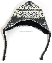 cheap adult earflap caps knitting pattern