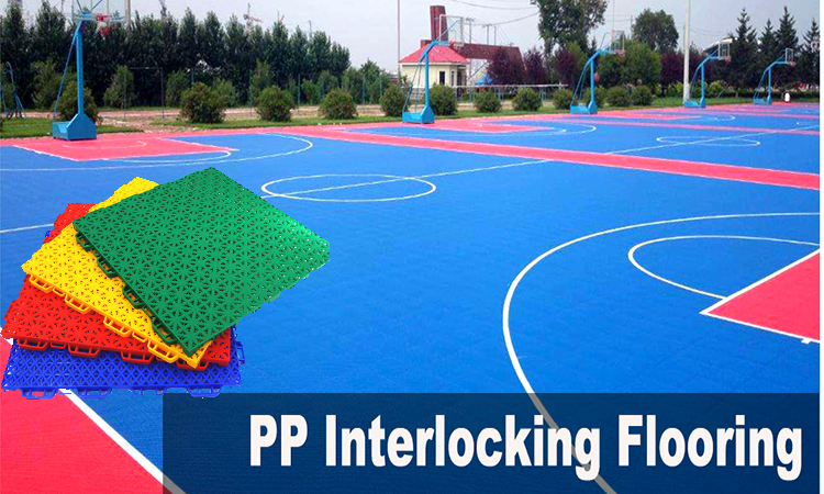 FIBA approved 100% pp sports court playground flooring for basketball court