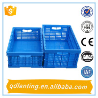 600*400mm bread plastic folding crate small storage boxes folding crate