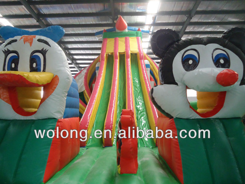 HOT Sale Inflatable slide combo, mouse and duck Slide