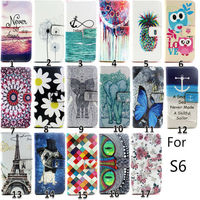 Creative for Samsung Galaxy S6 wallet case custom printing for Samsung S6 case 2015 factory price OEM/ODM China alibaba