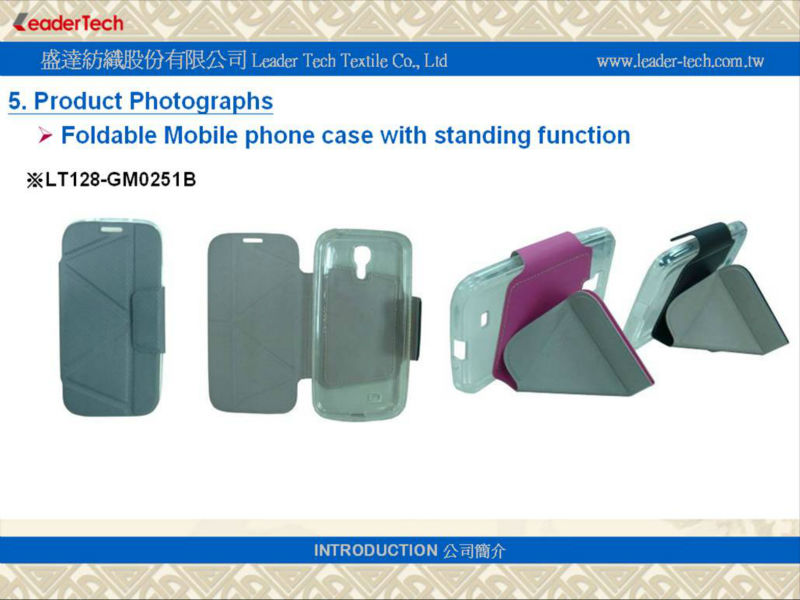 foldable case with standing function