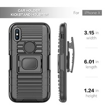 High quality New Trend Product PC+TPU Personalized Phone Case For Iphone X , 3 in 1 Holster combo case for iphone 7plus
