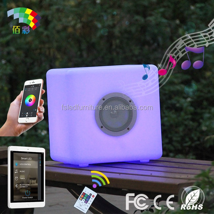 Intelligent LED light up computer speaker with remote controller