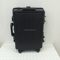 pro waterproof shock proof locking Plastic tool Trolley case flight case abs trolley case_660003707