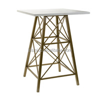 Unique Design Marble Side Table With Iron Stand, Ladder Shaped Flower Stand With Marble Top For Home Decoration