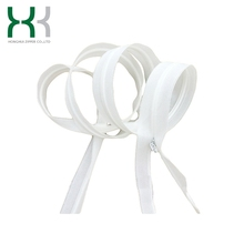 Invisible nylon zipper lace tape for garments bags hometextile