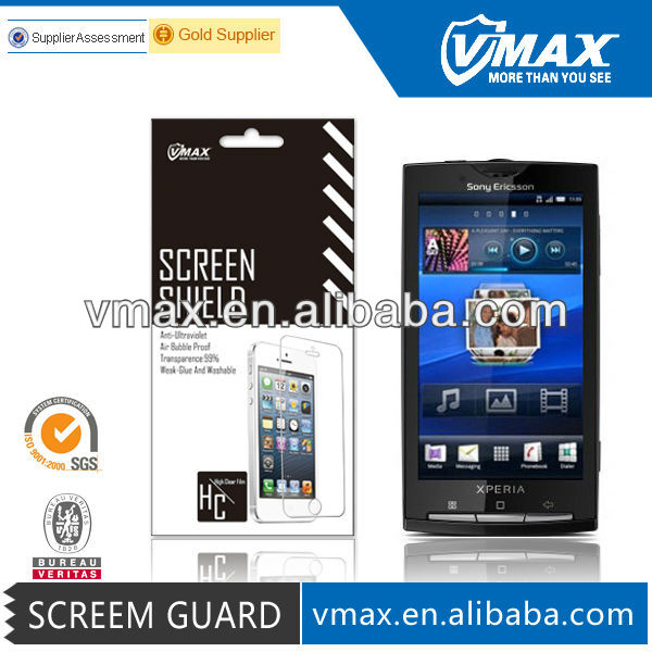 Universal Reusable Screen Protector for Sony Ericsson Xperia X10
