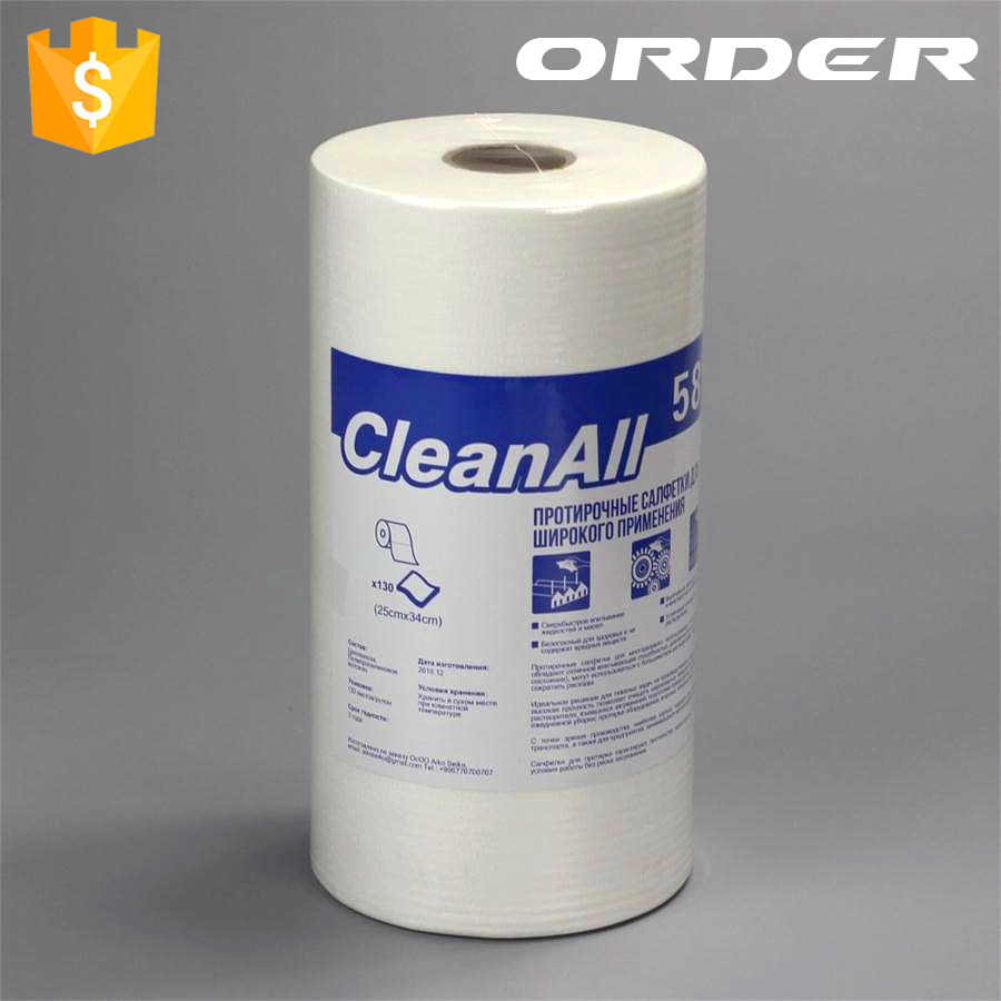 60 gsm Anti-Static cellulose+polyester small roll aerospace aircraft rags
