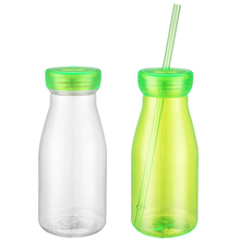Factory wholesale plastic water bottles with straws for milk