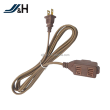 UL Approval 2C18AWG SPT-1 SPT-2 NEMA 1-15P Plug Outlet End Outdoor Indoor 2 Prong Extension Cord