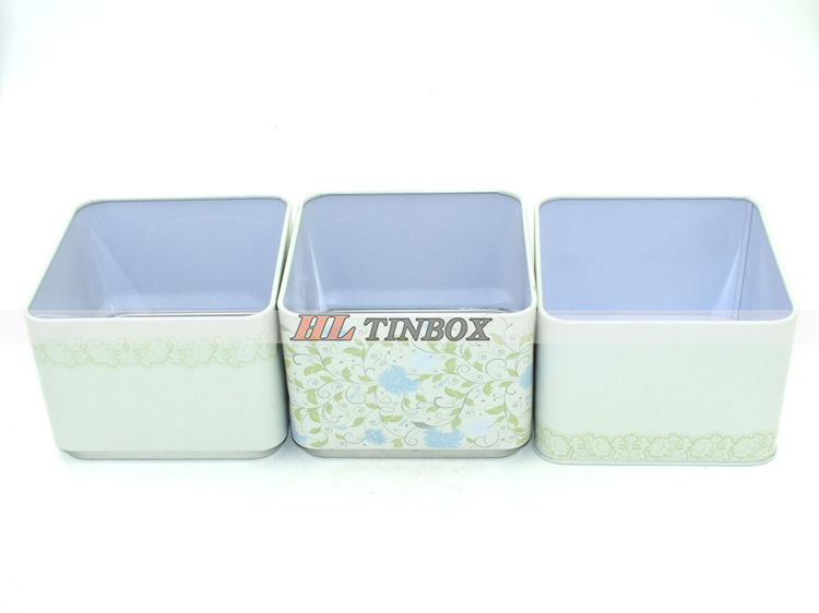 High Quality Spuare Gift Tin Box with Three Layers
