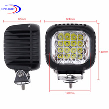 Guangzhou mechanical technology 4'' heavy duty LED working lamp, work light 48w truck lamp for machines