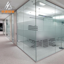 Aluminum interior partition / glass partition / office high partition wall / aluminium alloy door window glass partition system
