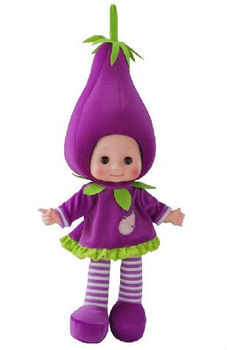 18 Inch fruit baby dolls with voice-activated music eggplant shape GY95095