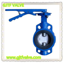 5 Inch Standard Small Size Manual Power and Pressure PN10/PN16 Wafer Butterfly Valve with double half shaft for Water Supply
