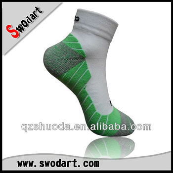 2015 breathable custom green running Socks low cut mesh socks coolmax socks cycling socks