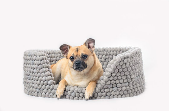 felt bed pet bed for dog felt ball dog bed