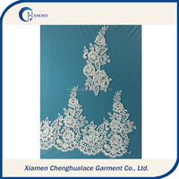 2016 embroidery paired lace cord lace for wedding dress decoration