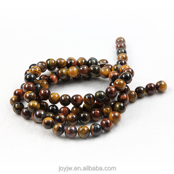 Natural Stone Three Color Tiger Eyes Stone Beads