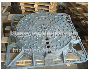 EN124 Square Ductile Iron Manhole Cover foundry With ISO 9001 Certificate