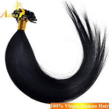 Best Quality Keratin Fusion Tip 100% Remy Human Hair U Tip Hair Extension Wholesale 1g per strand Nail Tip Hair Extensions