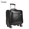 size 16''18'' hot sale PU travel trolley luggage factory made pilot suitcase wholesale boarded luggage