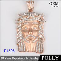 Factory custom 925 silver jesus pendant with high quality wholesale