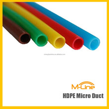 Single HDPE Material Micro Duct For Air Blown Fiber