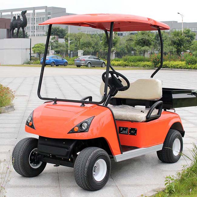 Red Electric Golf Buggy DU-G2 with CE certificate (China)