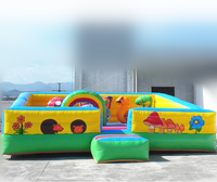 animal zoo inflatable bouncy playland/inflatable bouncer/inflatable jumping area F1071