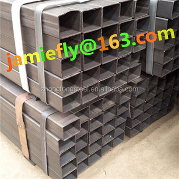 alibaba china Q235 Q345 square tube 38*38 steel pipe ms hollow section rectangular