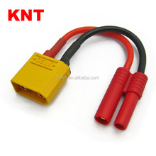 KNT KT-81126B RC Conversion wire male XT90 plug / HXT 4.0mm banana plug (Small style) battery adapter
