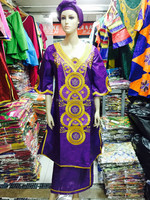 HS2283 Fashion women's clothing in the African bazin mrs.george embroidery embroidery cotton sleeve dress